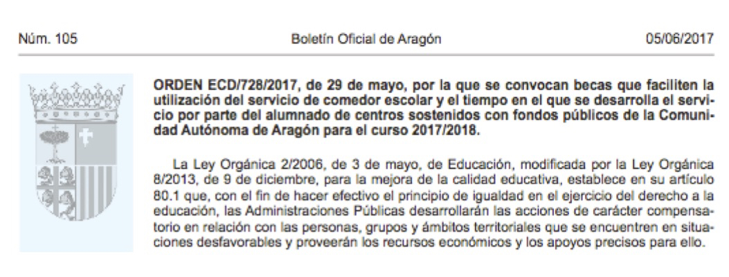 BECAS COMEDOR Y MATERIAL CURRICULAR 2017-2018